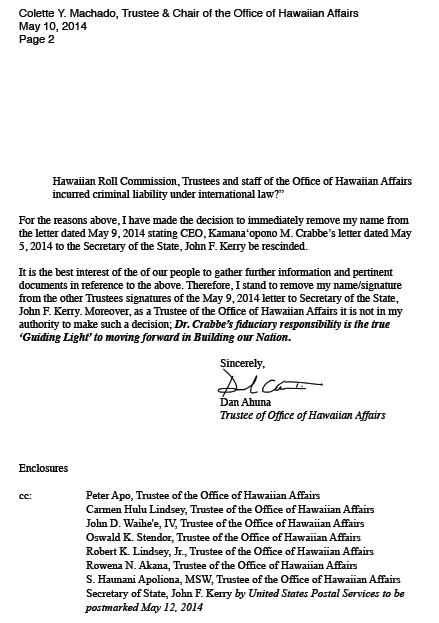 Ahuna Removal Letter Page 2 Hawaiian Kingdom Blog