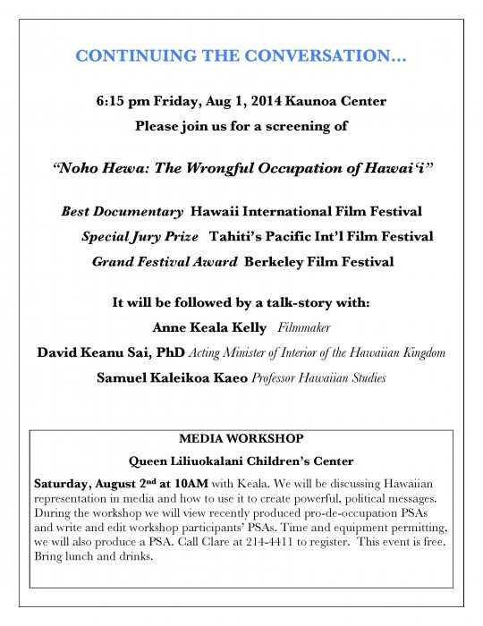 Flyer-Maui workshop