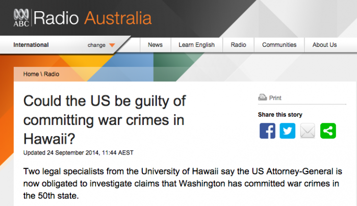 ABC Radio Australia War Crimes