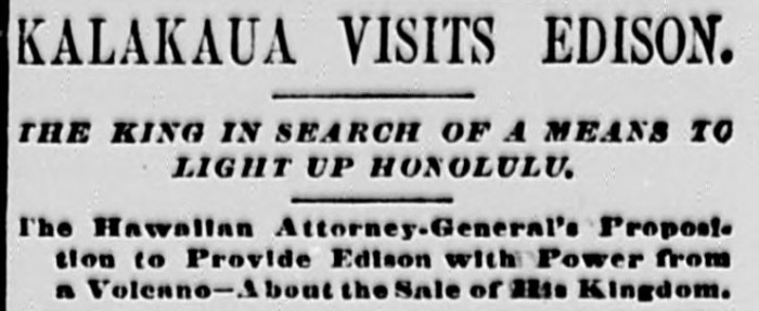 The Sun_Cover_1881_Kalakaua_Article