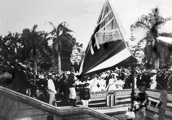 Hawaiian Flag Lowered 1898