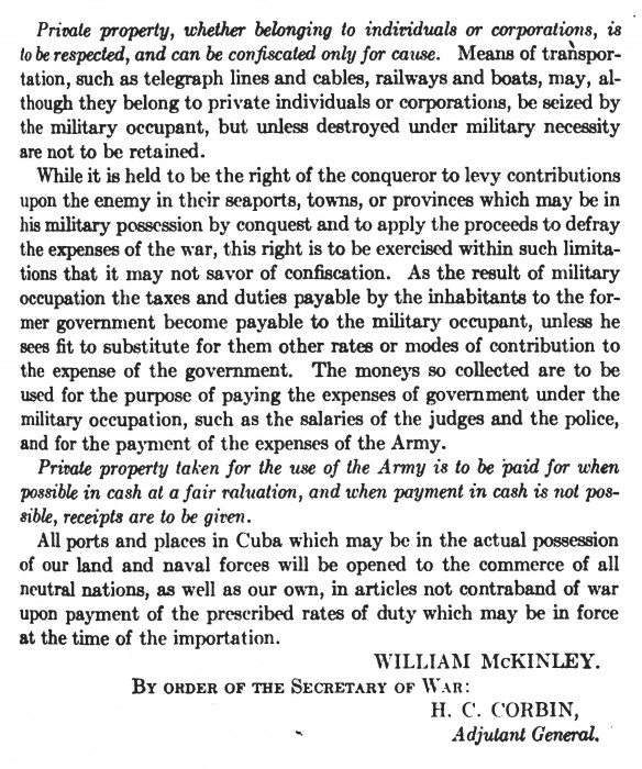 McKinley's Gen. Order for Occupation_Page_3