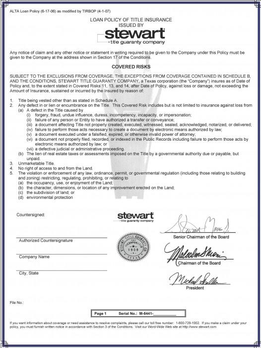 Stewart Title Insurance