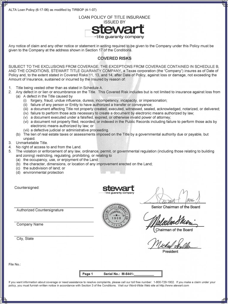 Stewart Title Insurance | Hawaiian Kingdom Blog
