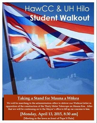 UH Hilo and HCC Student Walkout